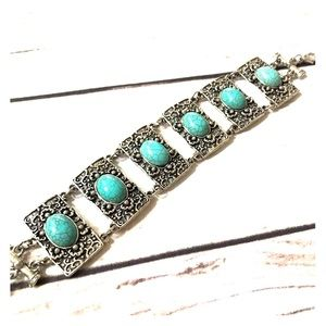 Jewelry - Silver and Turquoise bracelet